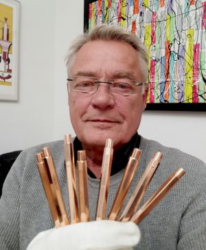 Inventor Marc Solioz with CopperPens